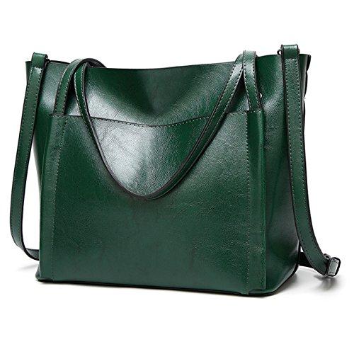 Green Satchel Handbag - 4