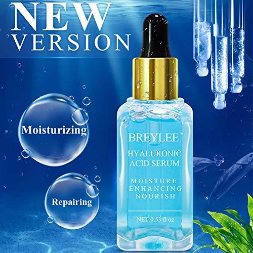 Hyaluronic Acid Serum, BREYLEE Moisturizing Face Serum Natural Facial Serum for Enhancing Nourishing Hydrating Face Skin Care (15ml, 0.53Fl Oz)