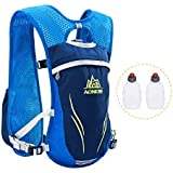 Azarxis Running Hydration Vest Backpack Pack Ultra Trail Race Chaleco Hidratacion 5.5L with Water Container
