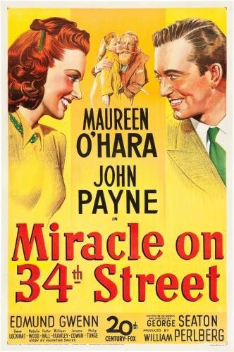Miracle On 34Th Street Movie Poster #01 - Street On Shops 34th
