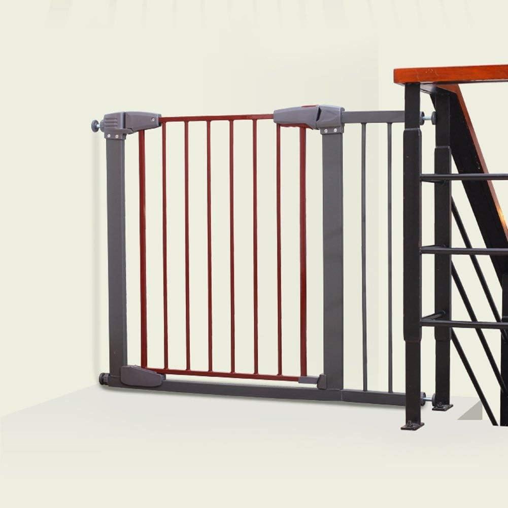 Huo Puertas de Seguridad para Niños Metal Uso Múltiple para Cercado De Mascotas, Escalera, Separador de Habitaciones, Barrera de Jardín, Barrera de Seguridad (Size : 107-113cm): Amazon.es: Hogar