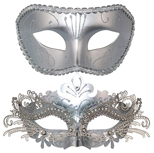 Couple Masquerade Mask Venetian Halloween Costume Mask Mardi Gras -