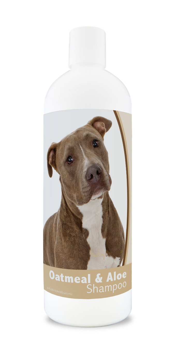 Healthy Breeds Oatmeal Dog Shampoo for Dry Itchy Skin for Pit Bull Brown- Over 200 Breeds - 16 oz - Mild & Gentle for Sensitive Skin - Hypoallergenic Formula & pH Balanced by Healthy Breeds