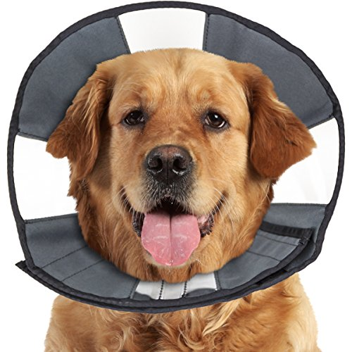 ZenPet ProCone Pet E-Collar for Dogs and Cats - Comfortable Soft Recovery Collar is Adjustable for a Secure and Custom Fit - Easy for Pets to Eat and Drink - - Procollar Inflatable