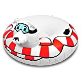 GoFloats Winter Snow Tube - Inflatable Toboggan