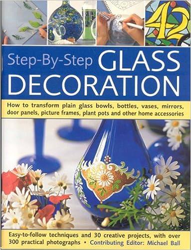Step By Step Glass Decoration How To Transform Plain Glass Bowls