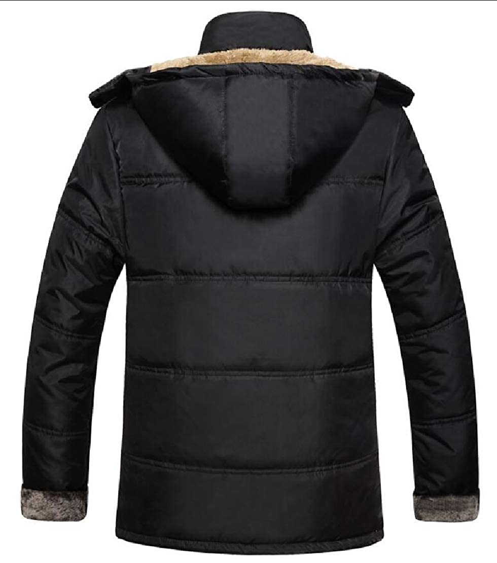 Keaac Men Winter Jackets Hooded Faux Fur Lined Warm Coats Outwear