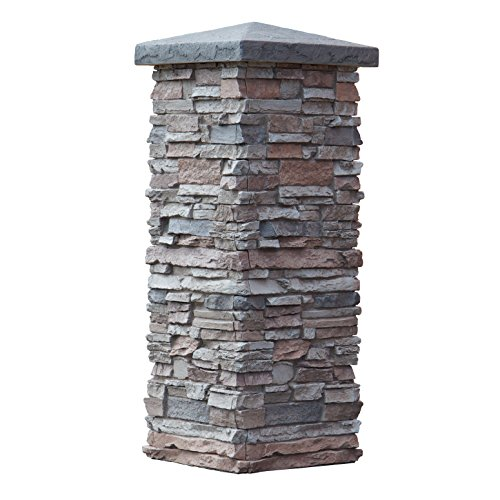 faux stone column wraps with easy install kit pole wrap post covers - Faux Stone Veneer