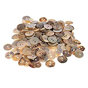 Mibo Agoya Shell Button Bulk Packs of 200 in Assorted Sizes 12 mm
