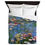 CafePress - Water Lilies 1916 By Claude Monet - Queen Duvet Cover, Printed Comforter Cover, Unique Bedding, Microfiber