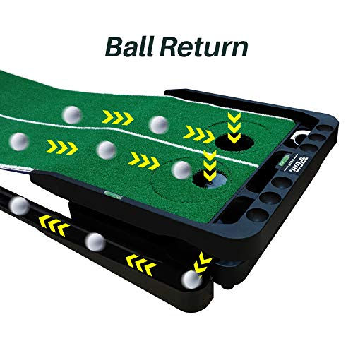 YBPGM 360° Rotory Golf Putting Auto Return System Professional Practice Green Long Challenging Putter Indoor/Outdoor Golf Training Mat Aid Equipment by YBPGM (Image #8)