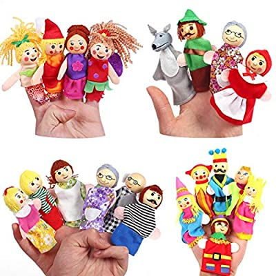 yerflew Creative Cute Cartoon Shape Children Finger Puppet Toy Set Early Education Toy: Home & Kitchen