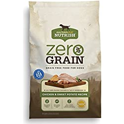 Rachael Ray Nutrish Zero Grain Natural Dry Dog Food, Grain Free, Chicken & Sweet Potato, 28 Lbs