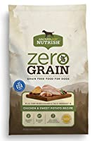 Rachael Ray Nutrish Zero Grain Chicken & Sweet Potato Recipe is made with simple, natural ingredients with added vitamins & chelated minerals. Real U.S. farm-raised chicken is always the number one ingredient, combined with sweet pota...
