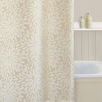 Polyester Shower Curtain Colour: Cream: Amazon.co.uk: Kitchen & Home