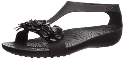 690373552 Crocs Women s Serena Embellish Sandal Flat Black
