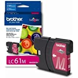 Brother LC61M Ink Cartridge, 500 Page-Yield, Magenta