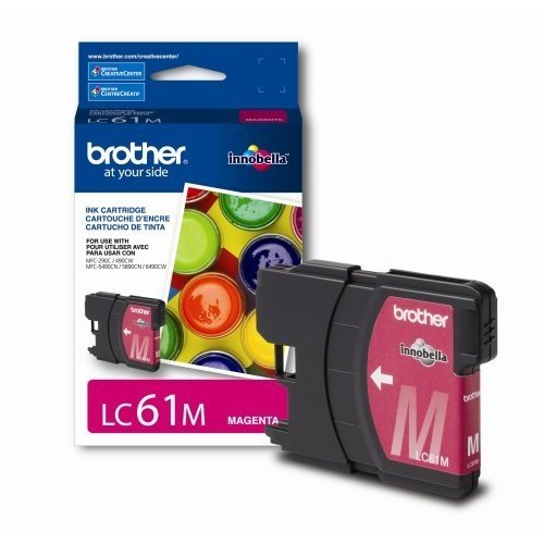 Brother LC61M Ink Cartridge, 500 Page-Yield, Magenta by Brother (Image #1)