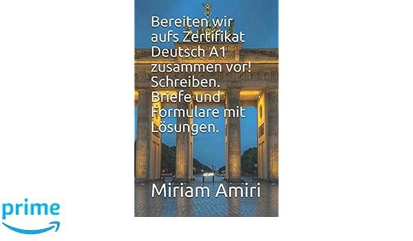 Amazoncom Bereiten Wir Aufs Zertifikat Deutsch A1 Zusammen Vor