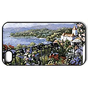 Unforgettable Prospect F1 - Case Cover for iPhone 4 and 4s (Watercolor style, Black)