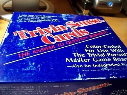 Trivia-Sense Cards The Answer To Question Burnout by Trivial Pursuit Trivia Sense Inc.