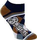 For Bare Feet Milwaukee Brewers Diamond Stripes No Show Socks