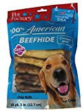 Pet Factory 78117 Assorted Flavored (Beef & Chicken) Chip Rolls 5'' 18 Pack. Made in USA