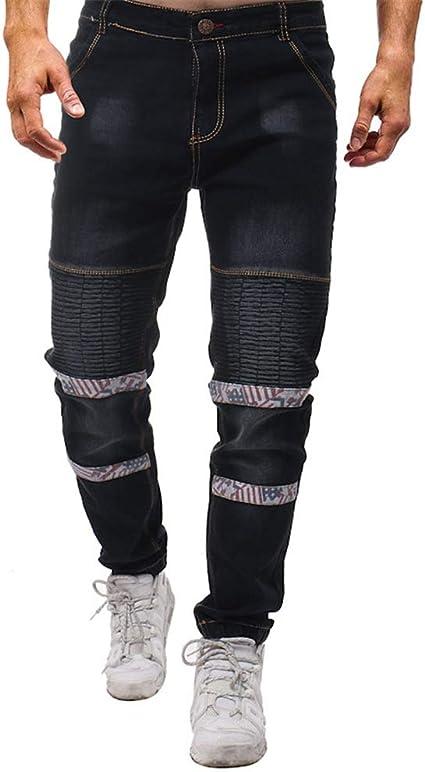 Zhongsufei Ch Mens Pierna Recta Jeans Regular Fit Pantalones Para Hombre Pantalones Vaqueros Ripped Stretch Pantalon Slim Fit Estampado De Moda Para Jovenes Pantalones Denim Pocket Ocio Pantalones Amazon Es Hogar