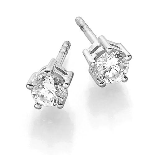 scarpe sportive a7a8c 61aad Solitario orecchini orecchini con diamanti brillanti 0,50 CT ...