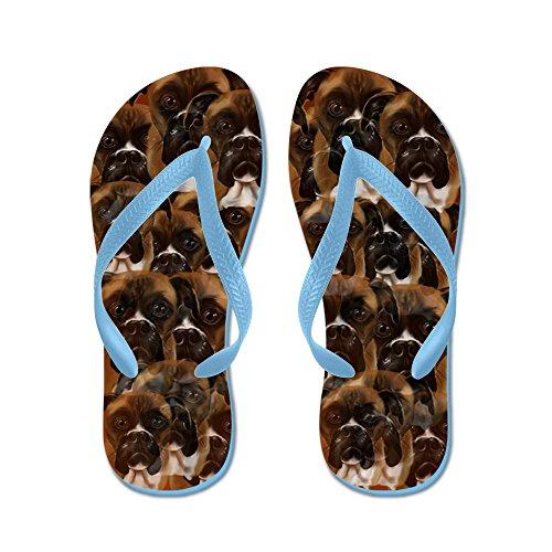 Cafepress I Love My Boxer Dog - Flip Flops, Grappige String Sandalen, Strand Sandalen Caribbean Blue
