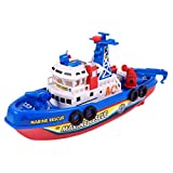 Putars Children Model Toys Electric Model Fireboat Music Lights Sprayed