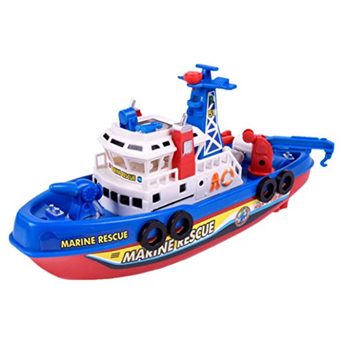 Putars Children Model Toys Electric Model Fireboat Music Lights (Fireboat Games)