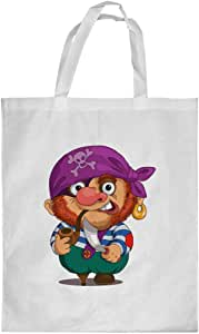 Printed Shopping bag, Small Size, Cartoons - Pirate
