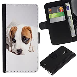 All Phone Most Case / Oferta Especial Cáscara Funda de cuero Monedero Cubierta de proteccion Caso / Wallet Case for Samsung Galaxy S4 Mini i9190 // Cute Cool Puppy Dog