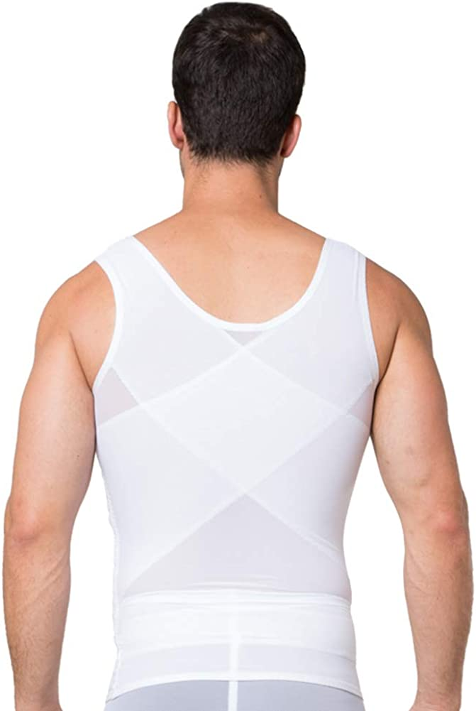 FEOYA Chaleco Moldeador para Hombres Faja Reductora Adelgazante Camiseta Transpirable Sauna sin Costura para Fitness Boda Novio para Hombre Rojo