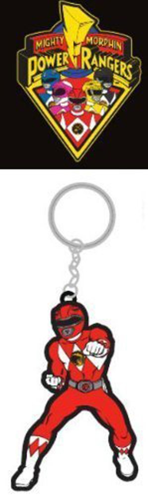Mighty Morphin Power Rangers Rubber ROT Ranger Keychain