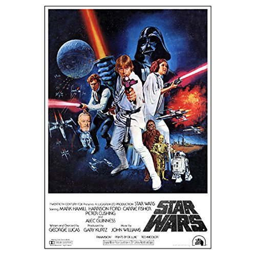 Star Wars 11 inch x 17 inch lithograph Cast Movie Poster Artwork kn