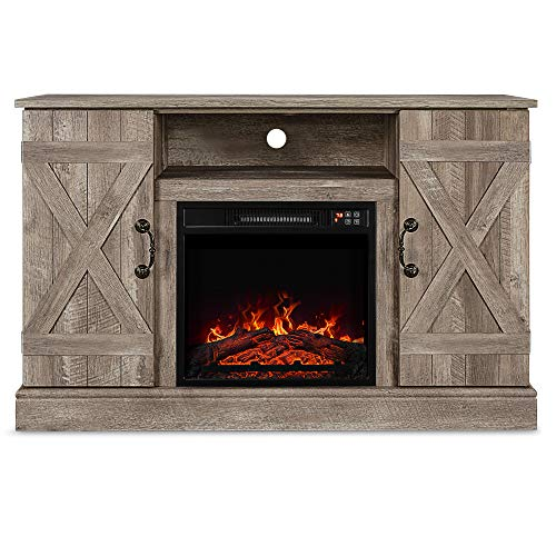 Belleze Infrared Electric Fireplace - with Remote Control TV Stand Entertainment Center for TV's Up to 50