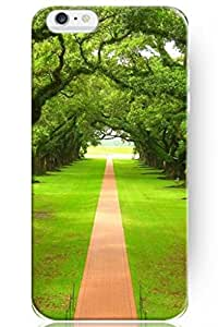 SPRAWL Charming Design Slim Fit 5.5 Apple Iphone 6 Plus Hard Protective Case -- Trees Guarding Red Brick Road