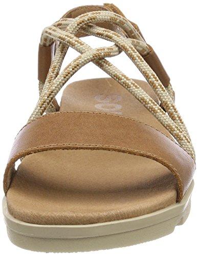 Femminile Torpeda Toe Color Open Sandali Ii Fossile Sorel Antico Cuoio 6q5nwB11