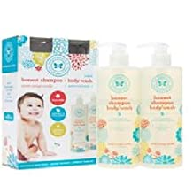 The Honest Company Sweet Orange Vanilla Shampoo & Body Wash, 17 oz. With Pump (Pack of 2) by The Honest Company