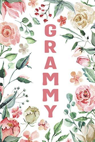 GRAMMY: Grammy Notebook, Cute Lined Notebook, Grammy Gifts, Pink Flower, Floral
