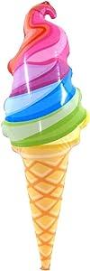 "TG,LLC Treasure Gurus 33"" Inflatable Rainbow Ice Cream Cone Swim Pool Water Float Blow Toy Party Decor Floatie"