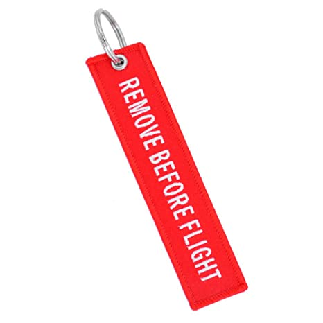 Kingnew - Etiqueta para equipaje con llavero bordado de ...