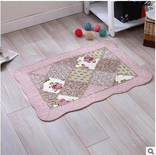 Cotton mats anti-skid living room floor mats bathroom mats -5070cm c by ZYZX