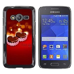 Paccase / SLIM PC / Aliminium Casa Carcasa Funda Case Cover - WITH LOVE - Samsung Galaxy Ace 4 G313 SM-G313F