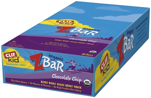 Clif Kid ZBar, Chocolate Chip, 18 Count