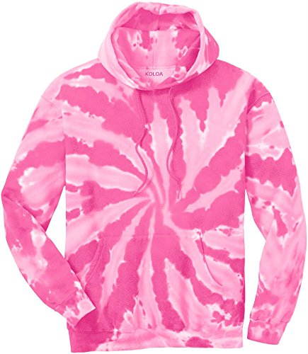 - Joe's USA tm Hoodies Tie-Dye Hooded Sweatshirt,2X-Large Pink Tie-Dye