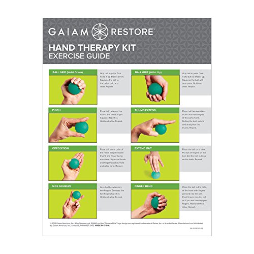 Gaiam Restore 05-58276 Hand Therapy Exercise Ball Kit