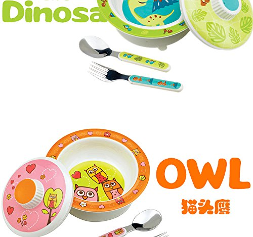 Sugarbooger Covered Suction Bowl Gift Set, Birds & Butterflies by SUGARBOOGER (Image #5)